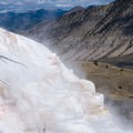 Terraces of Mammoth Hot Spring.- Wolf Tracking in Yellowstone National Park