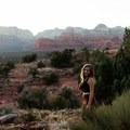 Laura in Sedona, Airzona at sunset. Photo by Janette Casolary.- Woman In The Wild: Laura Hughes