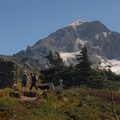 McNeil Point Shelter with Mount Hood on full display.- 5 Lesser Known Hikes On and Around Mount Hood