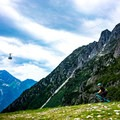 Among the French Alps near Chamonix, France.- Woman In The Wild: Brittany Greer
