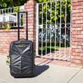 The telescoping dual-handle and wheels have a very solid feel, whether the bag is rolled through a carpeted airport or over rough sidewalks.- Gear Review: Mountainsmith Boarding Pass FX