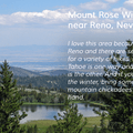 Mount Rose Wilderness in Nevada.- Nifty, Nifty, Look Who's Fifty
