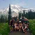 Blue sky day at Mount Rainier National Park.- Woman In The Wild: Mary Cecchini