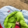 The sleeping bag has an ultra-warm neck puff at the top of the bag.- Gear Review: NEMO Jam 15 Women's Sleeping Bag