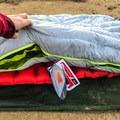 Double zipper functionality to unzip certain sections.- Gear Review: NEMO Jam 15 Women's Sleeping Bag