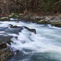 One of the Class III rapids along the trail.- Mountain Biking Oakridge's North Fork Trail