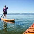 Paddling the NRS Big Earl on Flathead Lake, Montana.- Gear Review: NRS Big Earl Stand-up Paddleboard