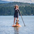 This board is durable and has a high volume, so it is a great fit for families.- Gear Review: NRS Big Earl Stand-up Paddleboard
