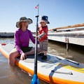 Kids love exploring on the board, and they don't have to worry about hurting themselves if they fall on it.- Gear Review: NRS Big Earl Stand-up Paddleboard