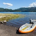 Getting ready for a paddle on Fall Creek Reservoir.- Gear Review: NRS Big Earl Stand-up Paddleboard