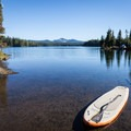 Preparing for a paddle on Oregon's Summit Lake.- Gear Review: NRS Big Earl Stand-up Paddleboard