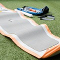 The unrolled board.- Gear Review: NRS Big Earl Stand-up Paddleboard