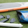 The inflated board.- Gear Review: NRS Big Earl Stand-up Paddleboard