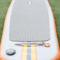 The rear strap and d-ring on the NRS Big Earl.- Gear Review: NRS Big Earl Stand-up Paddleboard