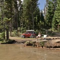 Campsite on Lemelo Lake after a ride on the North Umpqua Trail.- Southern Oregon's Best Mountain Bike Trails