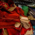 All the pieces for each hoodie are cut and ready to be sewn together.- NW Alpine is doing it right, and we're digging it