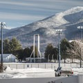 The 1980 Olympic torch near Lake Placid.- Winter Destination Spotlight: 48 Hours in the Adirondacks