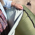 All TRONO Camping Chairs come with a soft cover that zips onto the chair once it is inflated for a softer seat.- Gear Review: TRONO Camping Chair