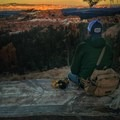 Watching the sun go down at Bryce Canyon.- Gear Review: Mountainsmith Tanack 10L Lumbar Pack