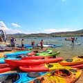 Tons of boats ready to test out at the demo day.- Outdoor Retailer Summer Market 2016 Recap