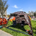 The North Face introduced a few new products and color schemes in tent city.- Outdoor Retailer Summer Market 2016 Recap