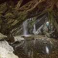 The cave at the top of Donut Falls in Big Cottonwood Canyon.- Wasatch Waterfalls