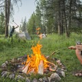 Chopping wood and cooking hot dogs, age old goodness.- Bringing a Camping Ethic Back Home