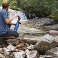 Who needs bottled water when you have a filter and a stream.- Bringing a Camping Ethic Back Home