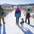 Enjoying the groomed snow and fresh air on the trails of Round Valley.- Salt Lake City Inversion Survival Kit