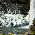 Admiring Outlet Falls in the winter in Klickitat Canyon.- Wednesday's Word - Klickitat