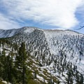 The shallow slopes of San Gorgonio from the Moymer Creek Trail.- Summit Trips Along the Pacific Crest Trail