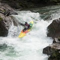 Anna practicing her lines before racing on a steep creek in the Pacific Northwest. - Sheroes in the Outdoors
