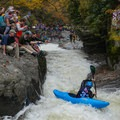 Professional athlete Adriene on the rapid known as Gorilla at the Green River Narrows annual race.- Sheroes in the Outdoors
