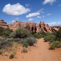 View of the Fins from the Primitive Trail.- 5 Must-do Hikes in Arches National Park