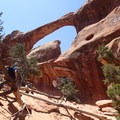 Double O Arch.- 5 Must-do Hikes in Arches National Park