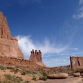 Formation known as the Three Gossips.- 5 Must-do Hikes in Arches National Park