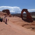 Photo lines at Delicate Arch.- 10 Things You Should Know Before Visiting Arches National Park