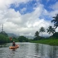 Paddling on the Hanalei River.- Woman In The Wild: Sarah Connette