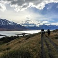 Horseback riding from the estancia with the Andes mountains as a backdrop.- 25 Photos That Will Make You Want to Adventure in Patagonia
