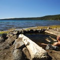 Paulina Lake (like nearby East Lake) is in Newberry Volcano's caldera.- Oregon's Best Hot Springs