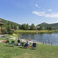 Paddleboarding at the Deer Valley Ponds.- 5 Reasons You Have to Visit Park City, Utah in the Summer