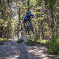 Little road gaps.- Top 5 Mountain Bike Trails in Golden, British Columbia