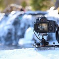 The Platypod Max set up on a granite surface.- Gear Review: Platypod Camera Support Kit