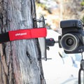 An optional accessory kit for the Platypod Max includes a strap that allows securing the Platypod to vertical surfaces as well.- Gear Review: Platypod Camera Support Kit