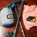 Hammock, poles, and a wool t-shirt.- Backpacking Essentials For Beginners
