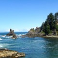 Rocky shore at Shi Shi Beach en route to Point of the Arches.- Washington's 20 Best Beaches