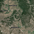 Map of Oregon and Washington Refuges. Image from Google Earth.- Sandhill Cranes in the Pacific Northwest