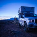 Hank the Tank right before sunset in the Utah desert.- Try Before You Buy: Finding the Right Camper Setup for You