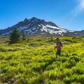 Trail running near Mount Hood, Oregon.- How to Turn Your Hike Into an Outdoor Workout