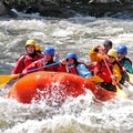 "When the guide screams ""paddle hard"" in the face of a swelling rapid, dig in and face the wall of water head on.- Answer the Call: A Day Rafting the Hudson River"